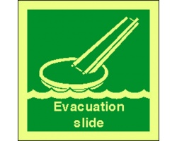4105jj evacuation slide sign