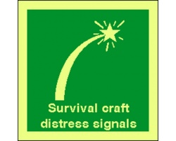 4116jj survival craft distress signals sign
