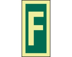 4215jf letter f sign
