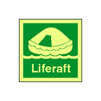 4102jj liferaft sign