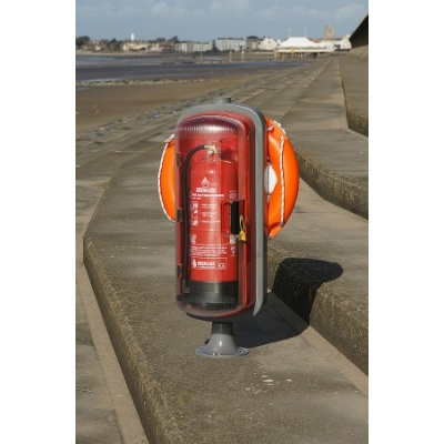 cab0900 sos601 safety station 1m pole front 600px